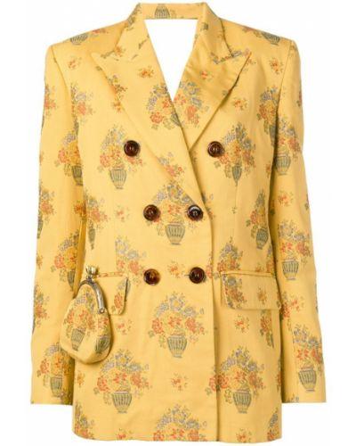 Желтый пиджак на пуговицах Seen Users
