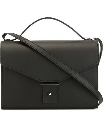 Черная сумка через плечо с перьями Pb 0110