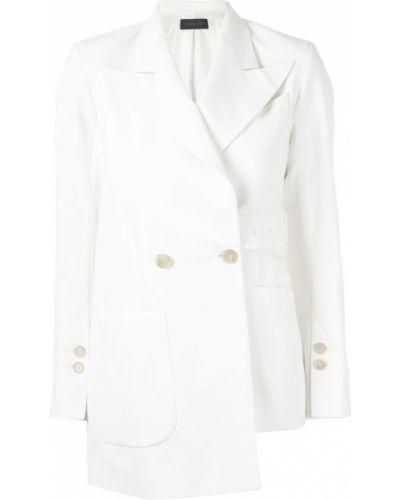 Удлиненный пиджак с карманами золотой Eudon Choi