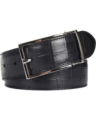 Кожаный ремень - черный Doucal's