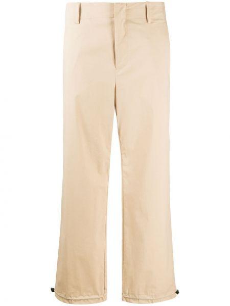 Прямые укороченные брюки с карманами на молнии Incotex