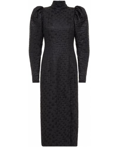 Czarna sukienka midi Rotate Birger Christensen