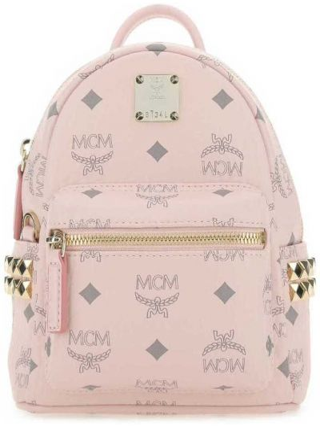 Różowy plecak Mcm