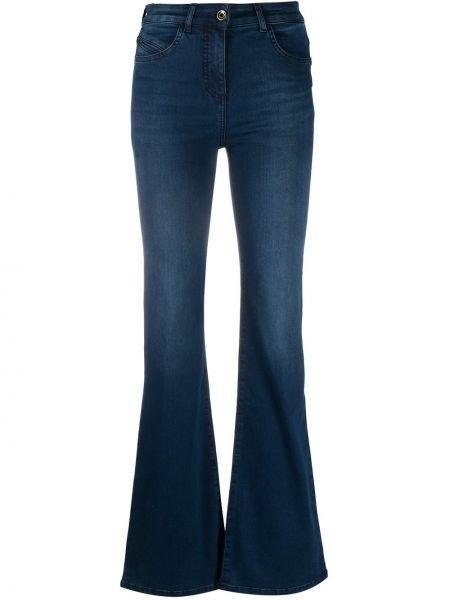 Bawełna bawełna niebieski jeansy na wysokości z kieszeniami Patrizia Pepe