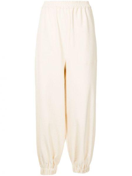 Białe spodnie Tibi
