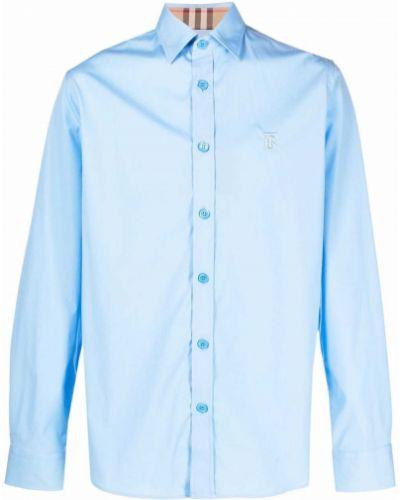 Koszula z haftem - niebieska Burberry