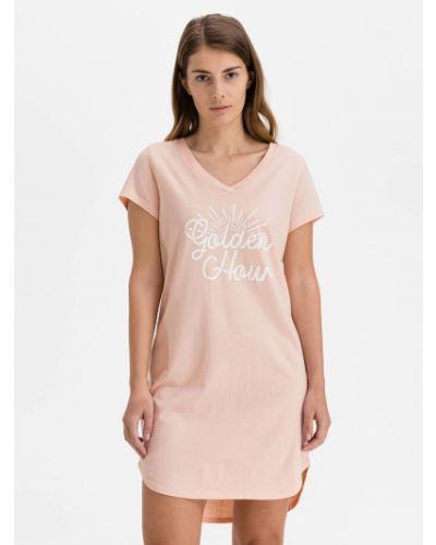 Koszula nocna bawełniana - różowa Gap