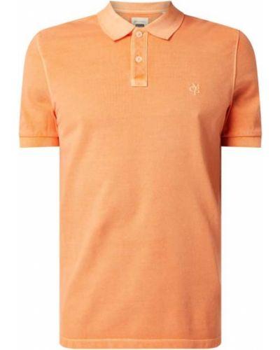 T-shirt bawełniana - pomarańczowa Marc O'polo