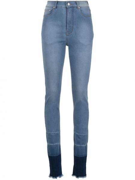 Хлопковые синие с завышенной талией джинсы Amapô