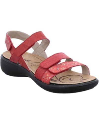 Czerwone sandały skorzane Romika