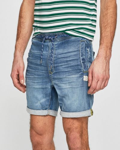 Джинсовые шорты на резинке с карманами Blend