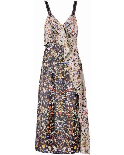 Шелковое платье миди Burberry