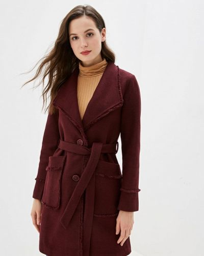 Пальто демисезонное бордовый Marcella