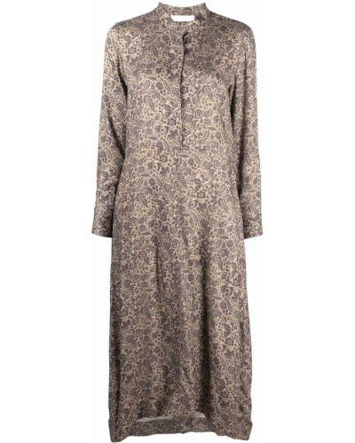 Бежевое платье из вискозы Fabiana Filippi