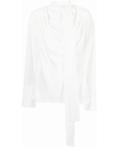 Блузка с бантом - белая Goen.j
