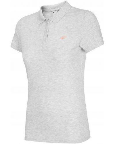 Szary bawełna z rękawami t-shirt 4f