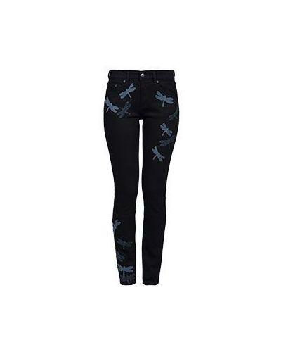 Черные джинсы-скинни Valentino Red