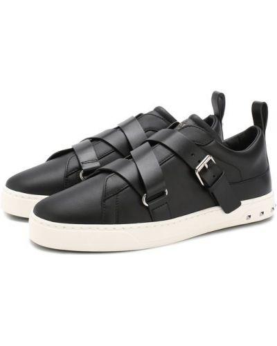 Черные кеды кожаные Valentino