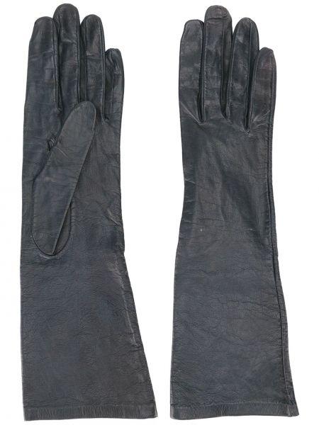 Кожаные перчатки бархатные винтажный Yves Saint Laurent Pre-owned