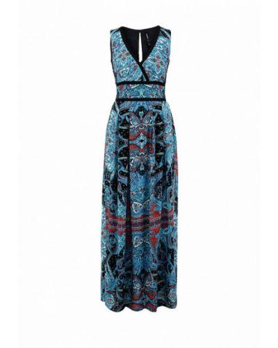 Летнее платье индийский синее Bestia