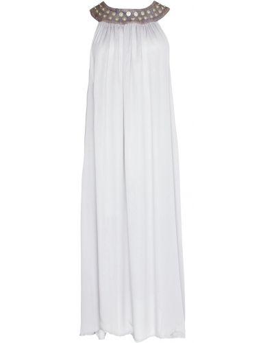 Серое платье винтажное с воротником Thomas Wylde