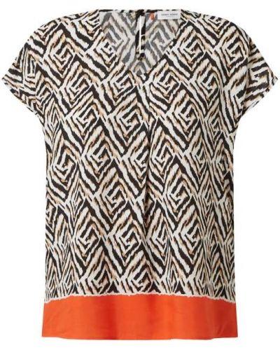 Beżowa bluzka z wiskozy z dekoltem w serek Gerry Weber