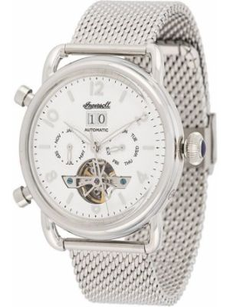 Szary zegarek mechaniczny srebrny Ingersoll Watches