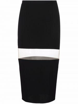 Черная трикотажная юбка Mugler