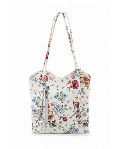 Кожаная сумка итальянский белый Roberta Rossi