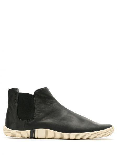 Кожаные черные кроссовки эластичные Osklen