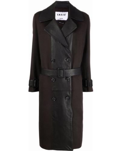 Черное пальто с воротником S.w.o.r.d 6.6.44