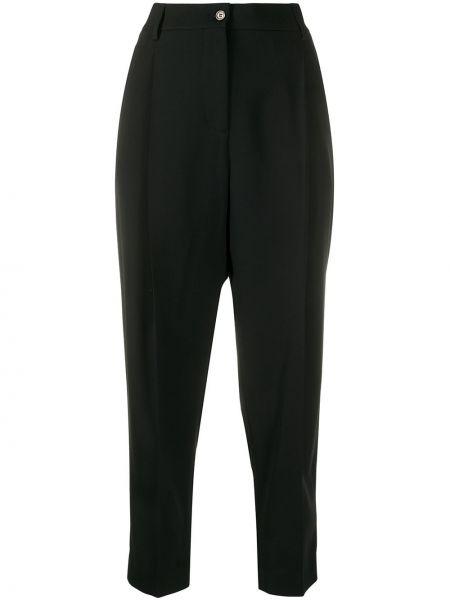 Черные укороченные брюки с поясом Piazza Sempione