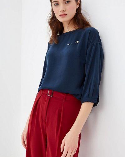 Блузка с длинным рукавом синяя весенний Zarina