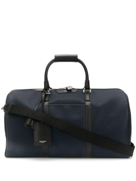 Дорожная сумка с логотипом - синяя Serapian