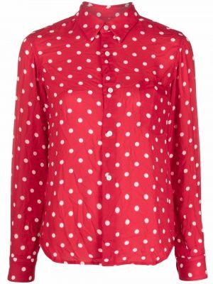 Рубашка с длинным рукавом - красная Comme Des Garçons Comme Des Garçons
