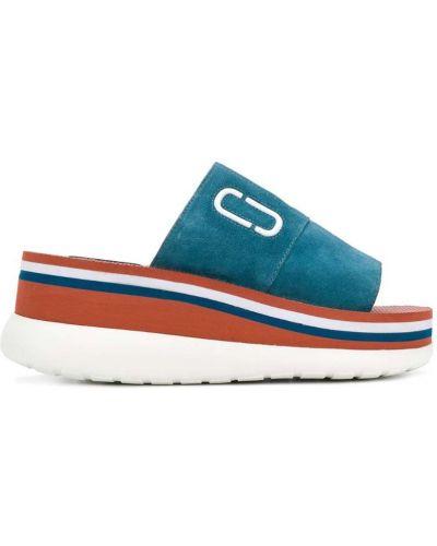 Синие сандалии на танкетке Marc Jacobs