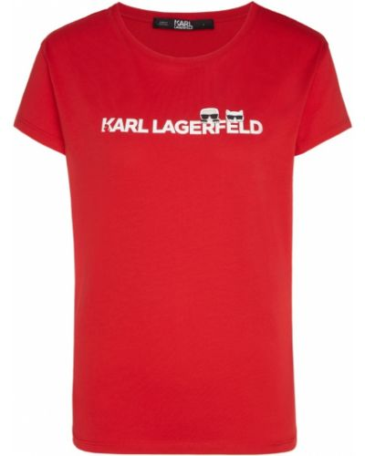 Футболка свободная с логотипом Karl Lagerfeld