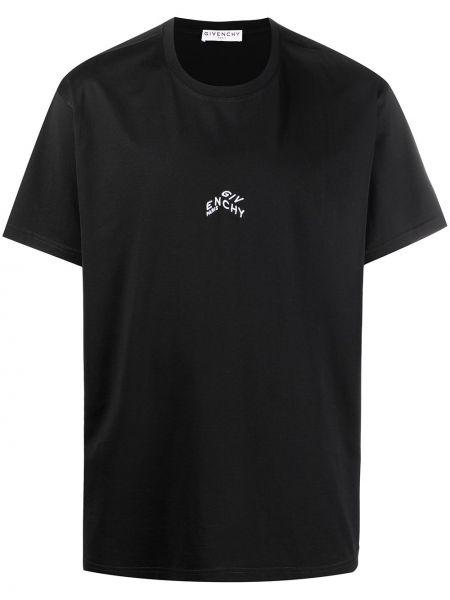 Bawełna czarny koszula krótkie rękawy z haftem Givenchy
