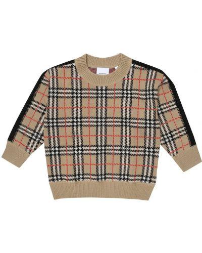 Beżowy wełniany sweter Burberry Kids