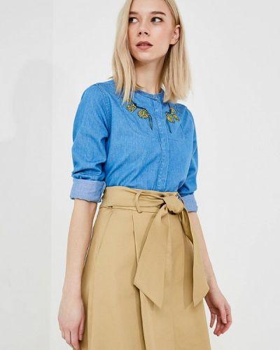 Синяя джинсовая рубашка Trussardi Jeans