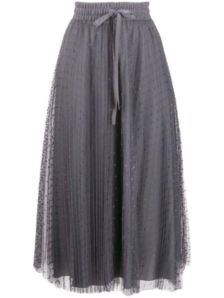 Плиссированная юбка на резинке из фатина Red Valentino