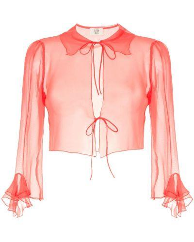 Блузка розовая с завязками Maryam Nassir Zadeh
