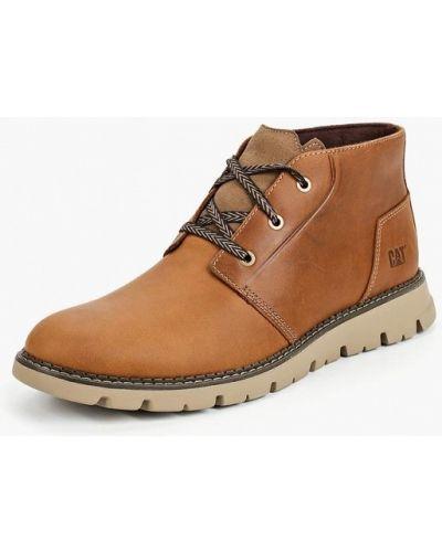 Ботинки осенние кожаные высокие Caterpillar
