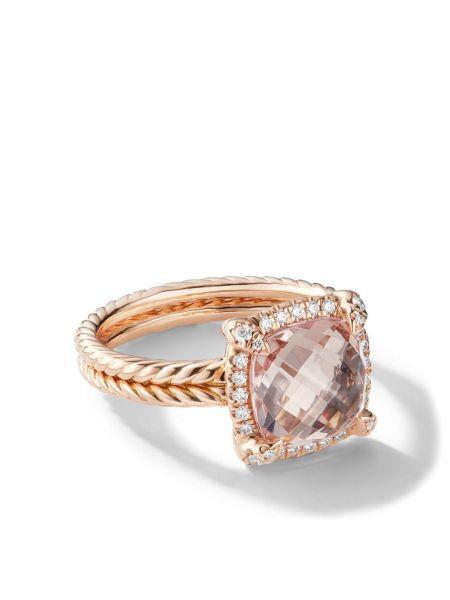 Кольцо с бриллиантом - розовое David Yurman