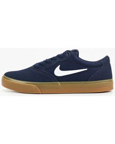 Низкие кеды синий велюровый Nike