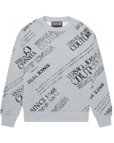 Szara bluza z nadrukiem z printem Versace Jeans Couture