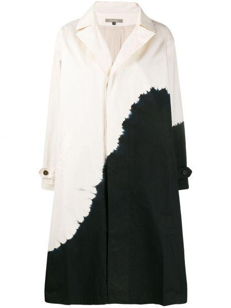 С рукавами однобортное пальто с воротником с карманами Suzusan