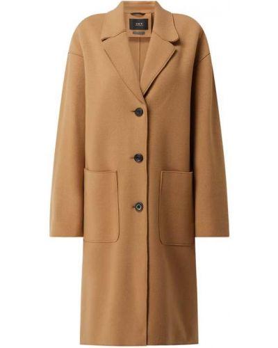 Płaszcz wełniany - brązowy Set