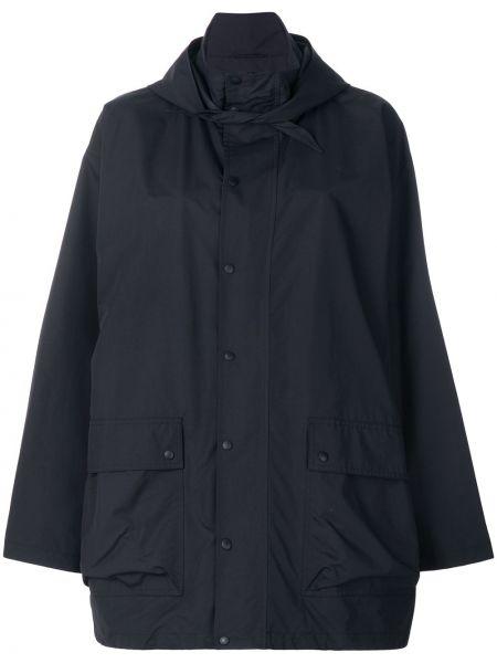 Płaszcz przeciwdeszczowy z kieszeniami z nadrukiem Balenciaga