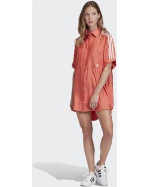 Платье мини футболка шелковое Adidas